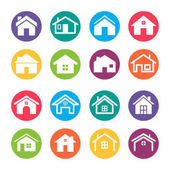 A vector illustration of Home Icons Design Elements