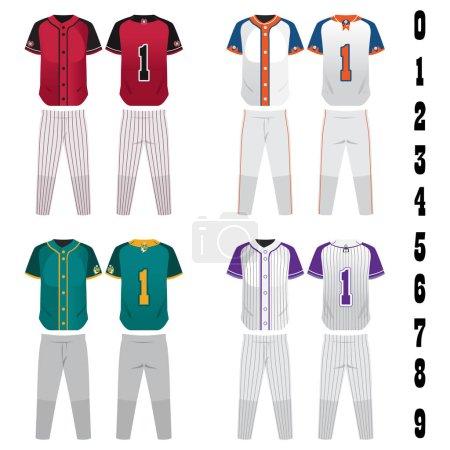 Baseball jersey uniform