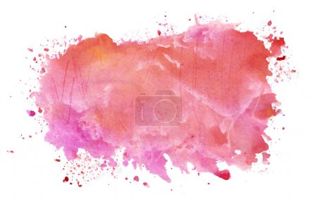 Photo for Hand drawn abstract watercolor splash - Royalty Free Image