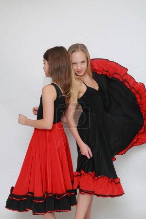 Photo pour Image de Studio de danseuse de flamenco - image libre de droit