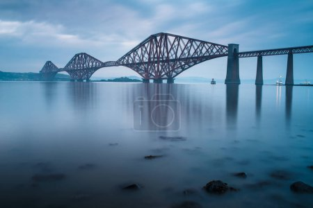 Photo for Forth bridges in Edinburgh, Scotland - Royalty Free Image