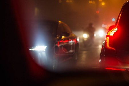 Night City car traffic -