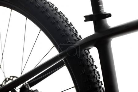 Photo for Modern MTB race mountain bike isolated on white in a studio - Royalty Free Image