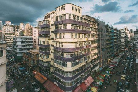 Sham Shui Po street view in Hong Kong