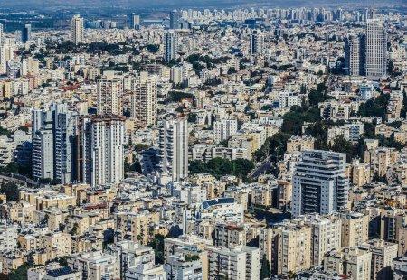 Aerial view in Tel Aviv