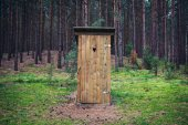 Toilet in forest