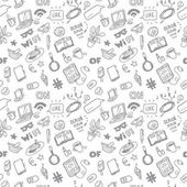 Social media for girls sketch vector seamless doodle pattern