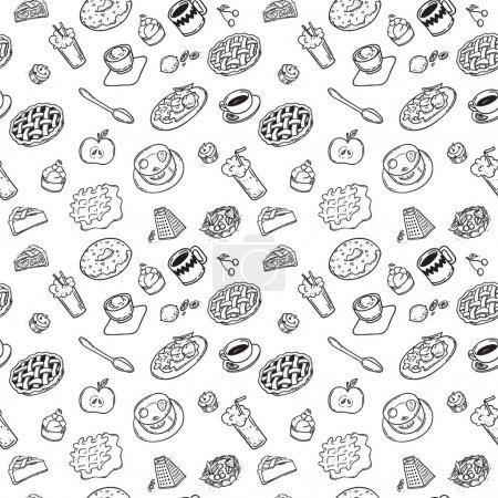 drawn doodle dessert