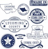 generic stamps and signs of Lycoming county PA