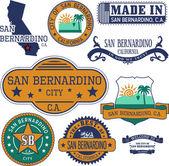 San Bernardino city CA Stamps and signs