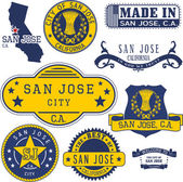 San Jose city CA generic stamps and signs