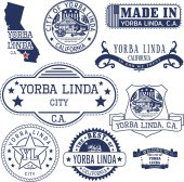 Yorba Linda city CA Stamps and signs