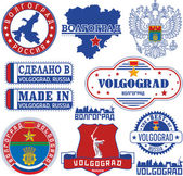Volgograd Russia Set of stamps and signs