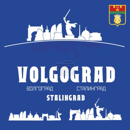 Volgograd city skyline, Russia