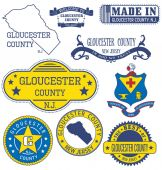 Gloucester county NJ Set of generic stamps and signs