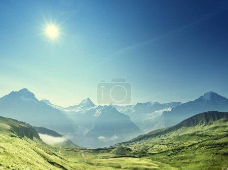 mountains landscape, Grindelwald First, Switzerland