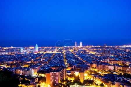 Barcelona skyline in Spain