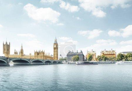 Photo pour Big Ben and Houses of Parliament, Londres, Royaume-Uni - image libre de droit