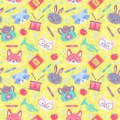 School seamless pattern for children
