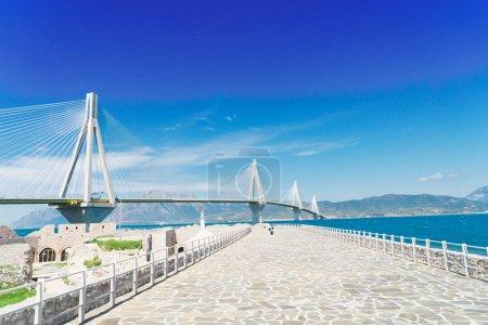 View of Patras and Rio Antirrio bridge