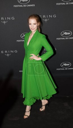 Jessica Chastain at the Women in Motion Awards Din...