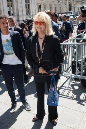 Amanda Lear attends Jean Paul Gaultier