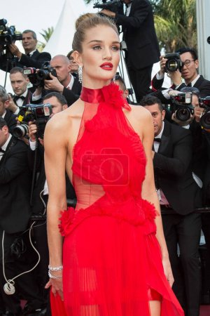 Photo for Rosie Huntington-Whiteley   attends the screening of 'The Unkown Girl (La Fille Inconnue)'  at the 69th Festival de Cannes. May 18, 2016  Cannes, France - Royalty Free Image