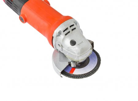 Power grinder on white background