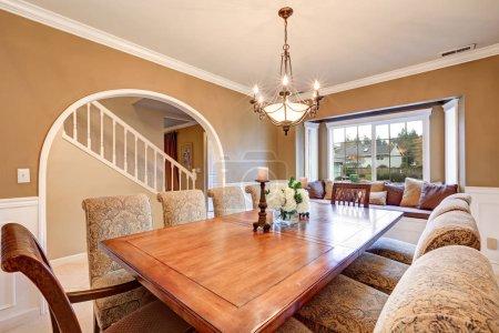 Elegant interior design of formal dining room