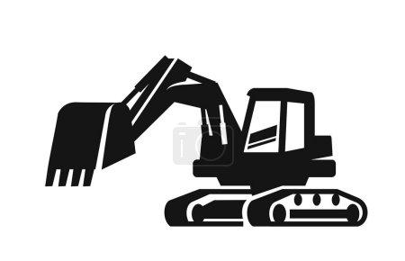 vector black Excavator