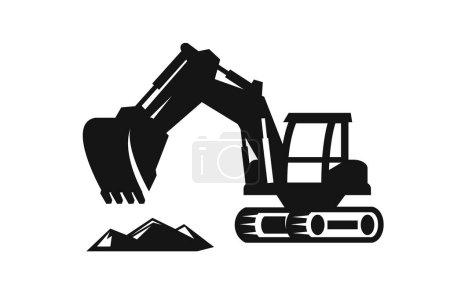 Illustration pour Icône de pelle noire vectorielle sur fond blanc - image libre de droit
