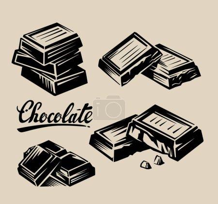 Illustration pour Illustration vectorielle de symbole de vecteur de chocolat sur beige - image libre de droit