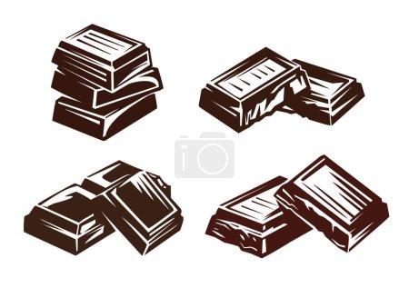 Illustration pour Illustration vectorielle de symbole de vecteur de chocolat sur blanc - image libre de droit
