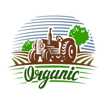 vector tractor emblem