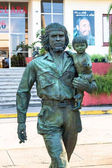 Che and Child sculpture, a work by Casto Solano, Santa Clara