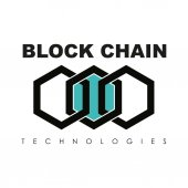 Business block chain logo illustration