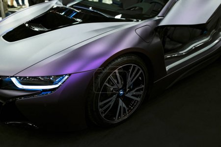Luxury BMW i8 hybrid electric