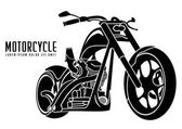 old vintage motorcycle icon