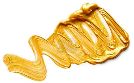 Abstract golden paint