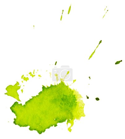 Green Brush stains