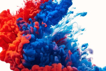 Paint splashes in water