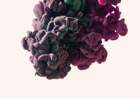 Foto de Salpicaduras de pintura. Fondo abstracto de cerca - Imagen libre de derechos