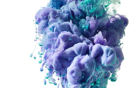 Splashes of ink in water