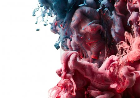 Photo for Red and blue paint splash. Abstract background - Royalty Free Image