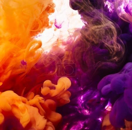 Colourful paint drops