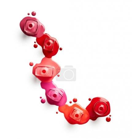 Colorful Spilled nail polish