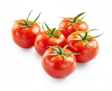 Tomatoes with drops of water