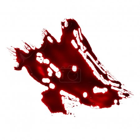 Photo for Bloodstain isolated on white background - Royalty Free Image