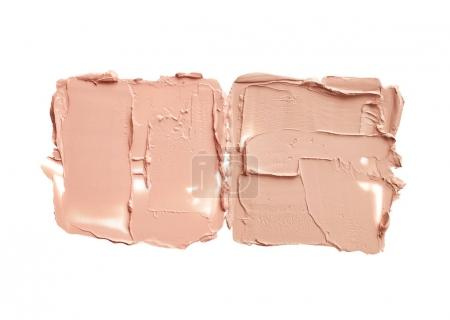 Makeup liquid foundation smudges