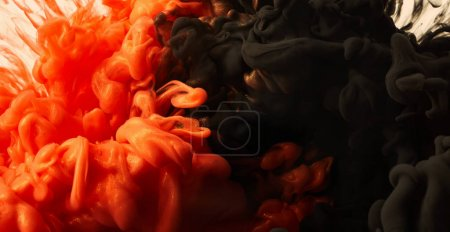 Photo for Ink drop in water background - Royalty Free Image